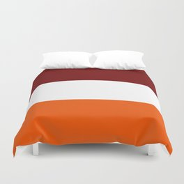 TEAM COLORS 8...Maroon , orange white Duvet Cover