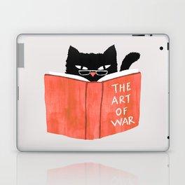Cat reading book Laptop & iPad Skin