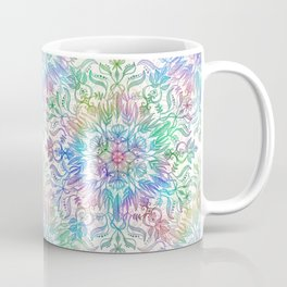 Nature Mandala in Rainbow Hues Coffee Mug