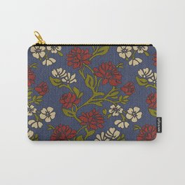 Vintage style victorian floral upholstery fabric Carry-All Pouch