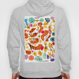 Flowers and Birds Illustration Pattern Hoody