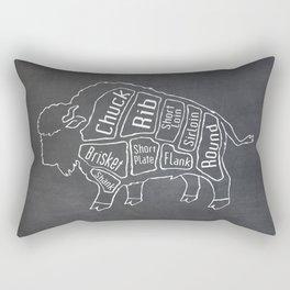 Buffalo Butcher Diagram (Meat Chart) Rectangular Pillow