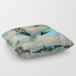 Cave Witch Floor Pillow