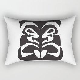 Minimalist Tiki Face Rectangular Pillow