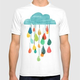 cloudy with a chance of rainbow T-shirt