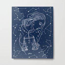 Libra zodiac sign Metal Print