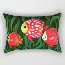 Red discus Rectangular Pillow