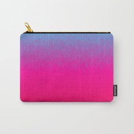 Blue purple and pink ombre flames Carry-All Pouch