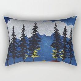 Red Tent Rectangular Pillow