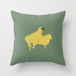 SHEEP MAKE LOVE BREEDING Throw Pillow