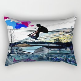 Let's Scoot! - Stunt Scooter at Skate Park Rectangular Pillow