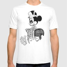GreaterDeathsney MEDIUM Mens Fitted Tee White