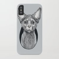 sphynx iPhone & iPod Cases featuring Sphynx cat by SilviaGancheva