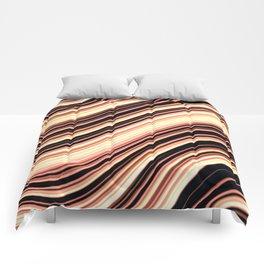 Wavy Brown Stripes Comforters