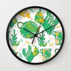 Romance of the teapot Wall Clock