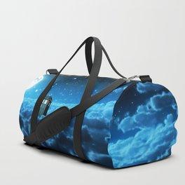 Tardis Cloud And Moon Duffle Bag