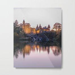 Belvedere Castle Central Park Night Metal Print