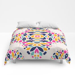 Colorful Ethnic Festive Abstract Floral Pattern Comforters