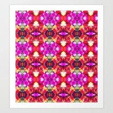 Palace Passion Flower Pattern Design  Art Print