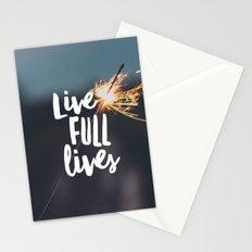 Live Full Lives Stationery Cards