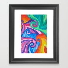 Colorful Swirls Framed Art Print