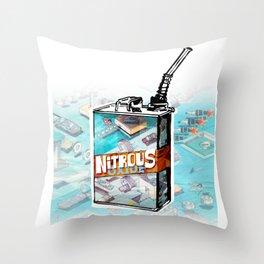 NITROUS OXIDE Throw Pillow