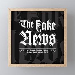 The Fake News Header Framed Mini Art Print