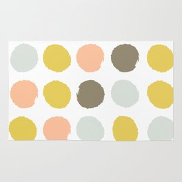 Gender neutral painted dots trendy color palette nursery gifts hipster decor Rug