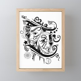 Zodiac - Gemini Framed Mini Art Print