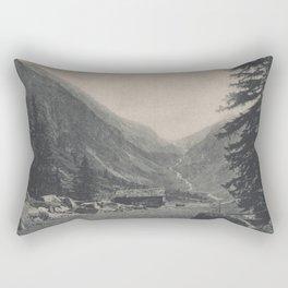 Swiss Mountain Lithography Rectangular Pillow