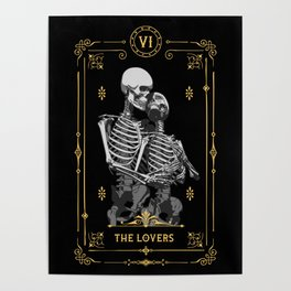 The Lovers VI Tarot Card Poster