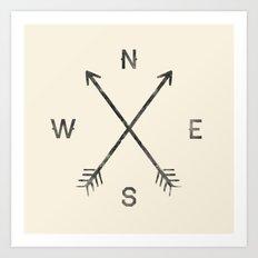 Compass (Natural) Art Print