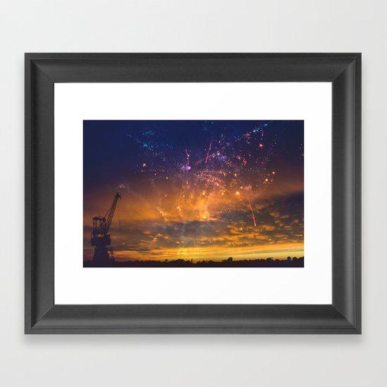 Magic Sunset Framed Art Print