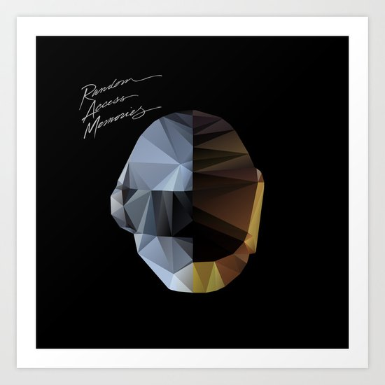 Daft Punk Polygon Art Print