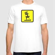 All For One White MEDIUM Mens Fitted Tee