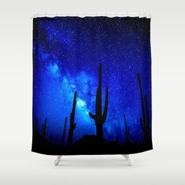 The Milky Way Blue Shower Curtain
