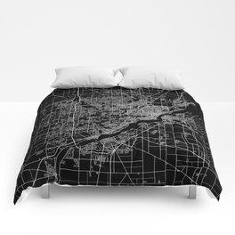 Toledo map ohio Comforters