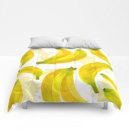 Watercolor Banana Comforters