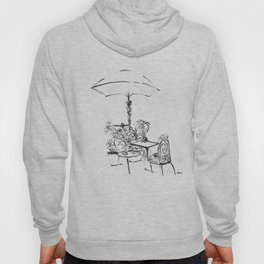 Black and White Sketch Hoody