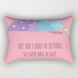 Sleepy unicorn Rectangular Pillow