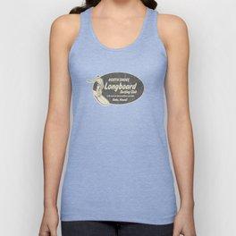 Club Surfing Longboard Logo and Hibiscus Hawaiian Print  Unisex Tank Top