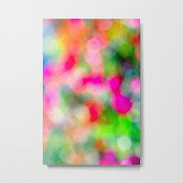 Abstract Smooth Blurry Floral Pattern Or Bokeh Metal Print
