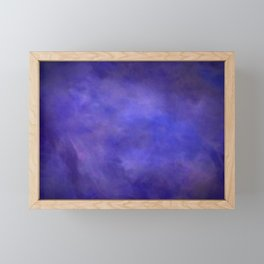 Abstract Watercolor Blend 2 Deep Purple and Blue Framed Mini Art Print