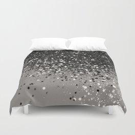Silver Gray Glitter #1 #shiny #decor #art #society6 Duvet Cover