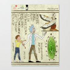 Hero-glyphics: Wubba Lubba Dub Dub Canvas Print
