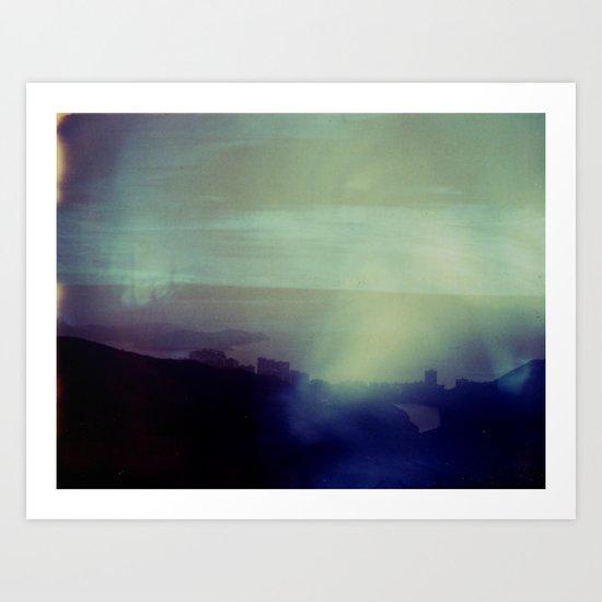 Victoria Peak Polaroid Art Print