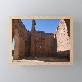 Ruins of El Badii (Marrakech) Framed Mini Art Print