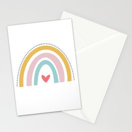 Rainbow Love Stationery Cards