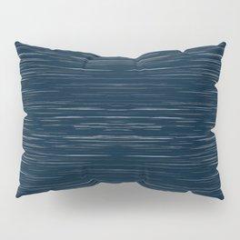 Meteor Stripes - Dark Denim Pillow Sham