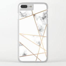 Marble Geometry 054 Clear iPhone Case